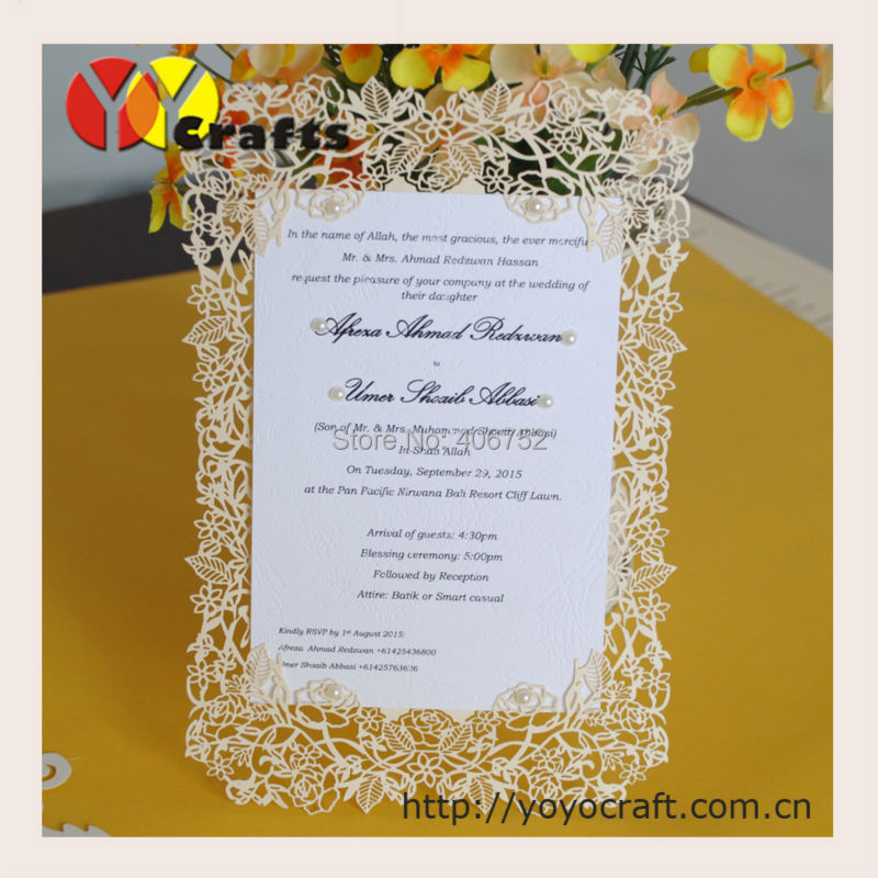 Us 6 6 10 Sets Rose Design Delicate Paper Laser Cutting Invitation Card Wedding Menu Card In Cards Invitations From Home Garden On Aliexpress