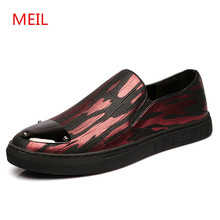 Designer Glitter Flat leather Shoes Men Loafers moccasins Fashion Flats Luxury Brand Driving Casual Shoes Men zapatos hombre цена