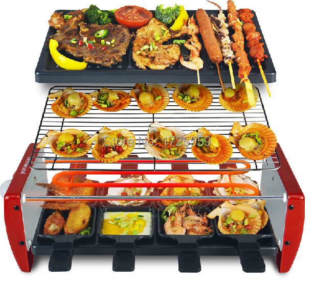 Plein plats à four accueil grill électrique, grand modèle table top Brochettes machine, aucun smok dans Robot Culinaire de Appareils ménagers