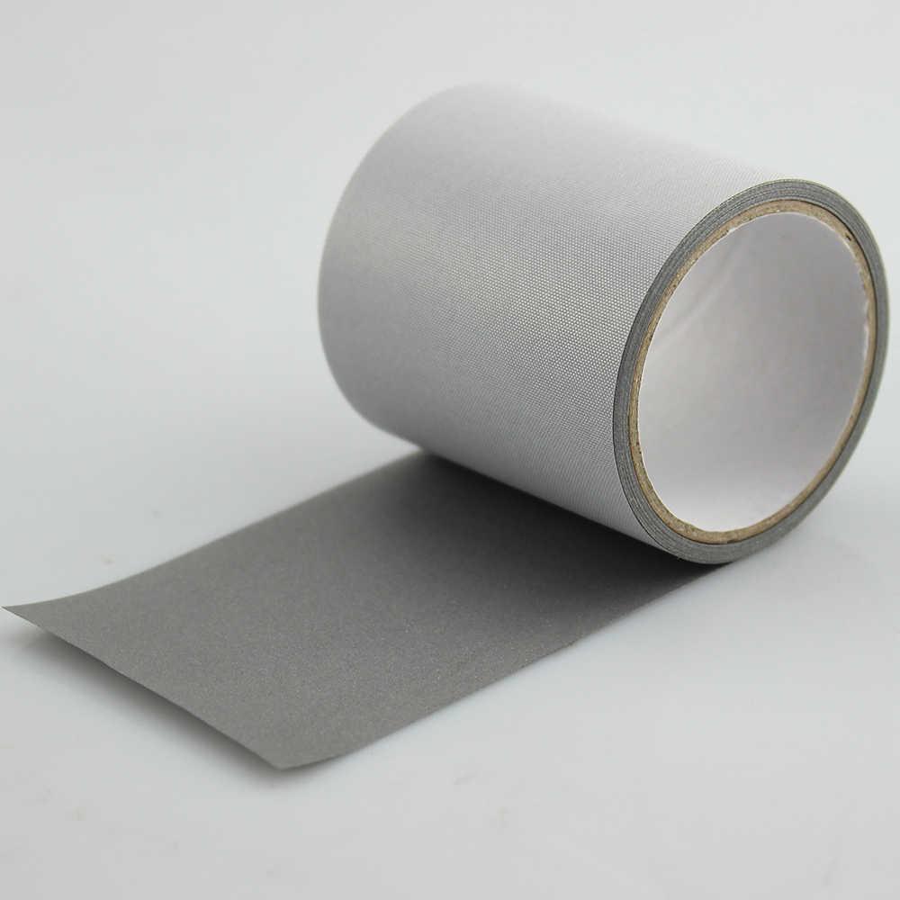 """50 ملليمتر (2 """") × 1 متر سلامة مشرق الفضة عاكس البوليستر النسيج الشريط خياطة على الملابس"""