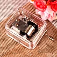 купить Newest Transparent Acrylic Music box Girlfriend Boyfriend Birthday Gift Valentine's Day Gift Customization Can lettering дешево