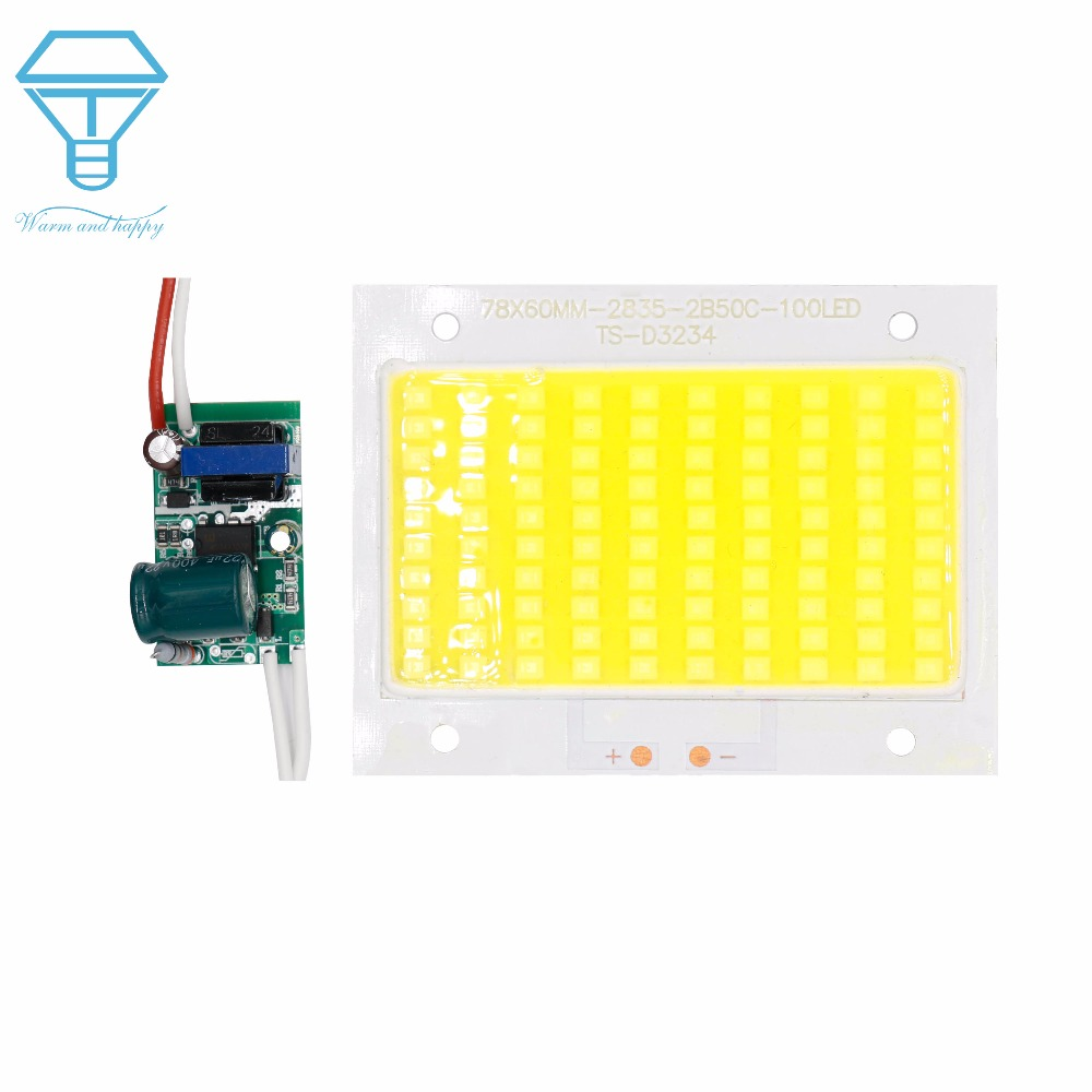 LED Chip 50W 100W 150W 200W With Driver 90-260V  High Power Diodes Light Beads SMD2835 Outdoor Flood Lights Cold White