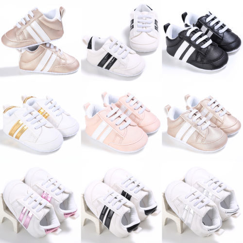 New Sneakers Newborn Baby Crib Sport Shoes Boys Girls Infant Lace up Soft Sole shoes