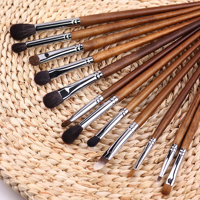 BBL 1 Piece Rosewood Professional Eye Makeup Brush Precision Blender Highlighter Eyeshadow Smudger Brush Angled Eyebrow Brushes 2