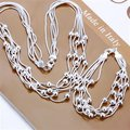 El envío Libre Al Por Mayor de Joyería de Moda Set, Cinco alambre de talón 2 Unidades set, 925 plata Esterlina Necklace & pulsera y Pendientes T038