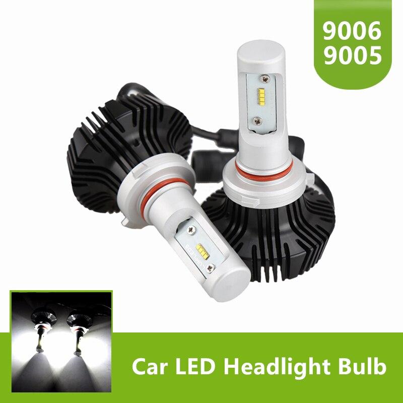 1 Пара 50 Вт 8000LM СВЕТОДИОДНЫЕ Фары Conversion Kit-<font><b>9005</b></font> <font><b>HB3</b></font> 9006 HB4 Дальний свет Лампы Холодный Белый 6500 К 12 В 24 В