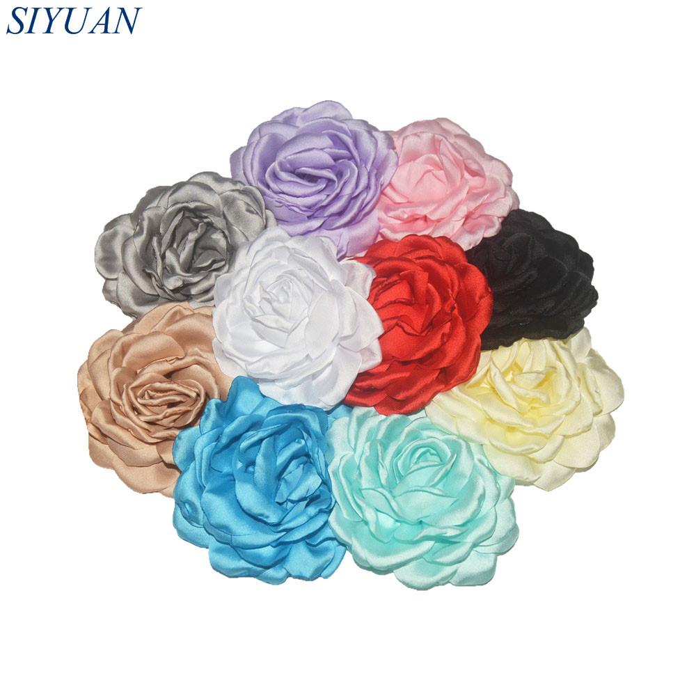 34pcs/lot You Pick Color Handmade Satin Burned Peony Flower Hairpin Hair Clip Accessories Girl Chic Hairpin Headwear TH240 metting joura vintage bohemian ethnic tribal flower print stone handmade elastic headband hair band design hair accessories