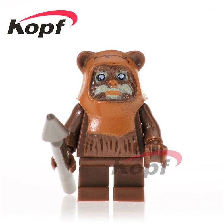 50 шт. PG738 войны калитки главный Ewok возвращение джедая 10236 битвы при эндоре кирпич действий строительные блоки игрушки для детей