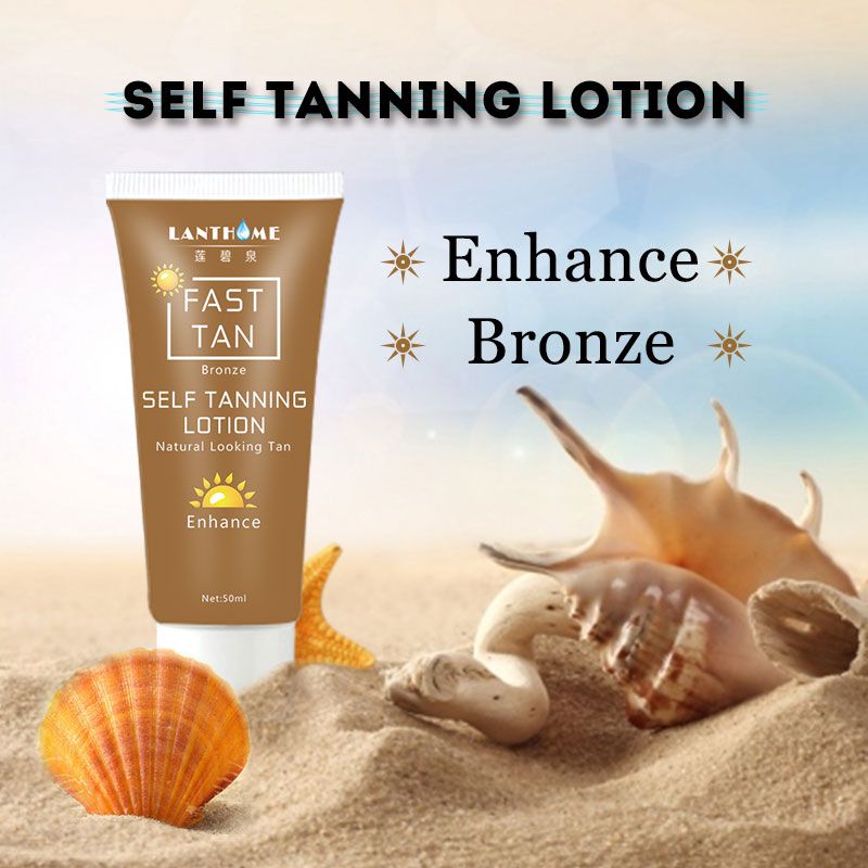 Dropshipping Self Tan Mitt For Bronzer Face Body Solarium Cream For Day Tanning Sun Block Makeup Foundation Tanner Lotion 1pcs