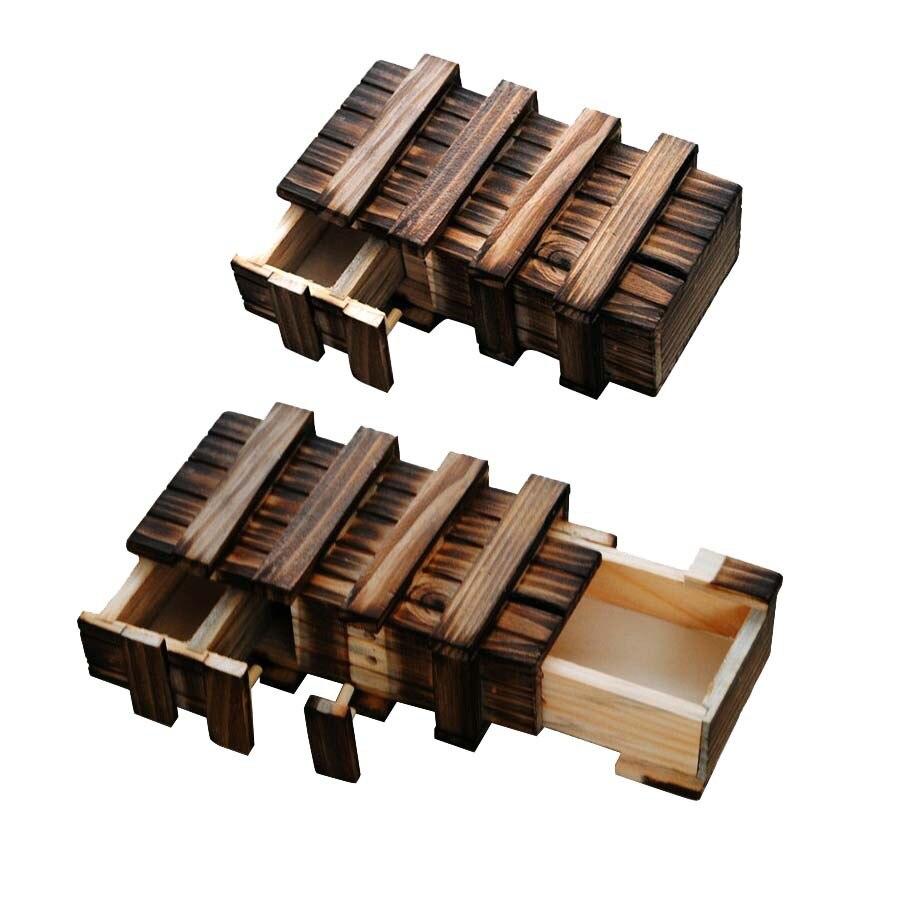 3D juguetes de madera grande caja mágica iq rompecabezas de rompecabezas para ad