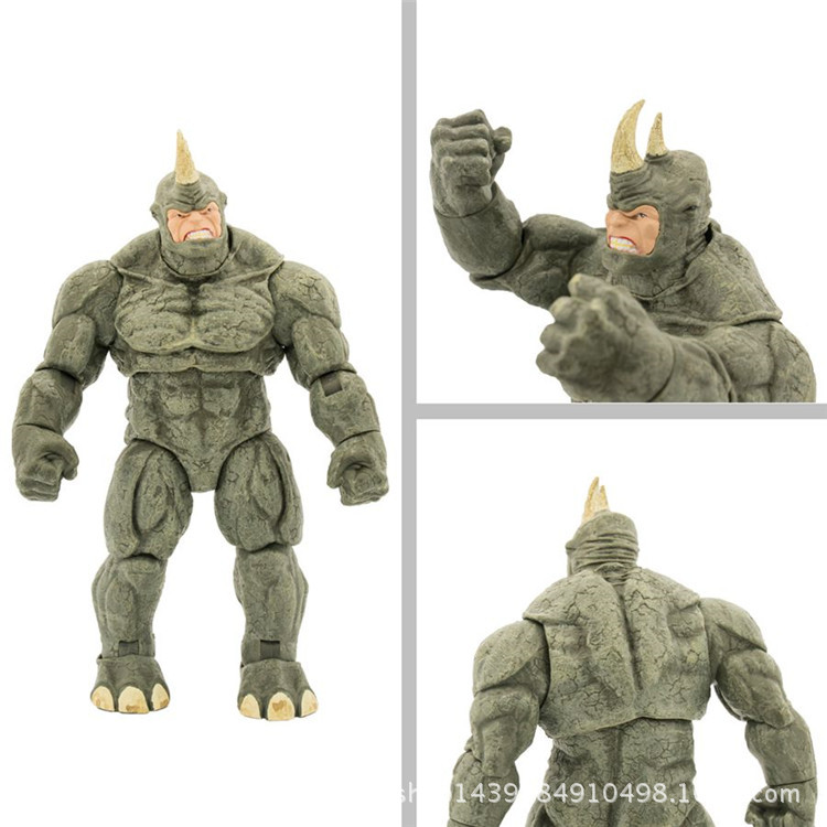 NEW hot 22cm spider-man Rhino Aleksei Mikhailovich Sytsevich action figure toys Christmas gift doll with box new hot 22cm avengers super hero hulk movable action figure toys christmas gift doll with box