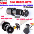 1/3 inch HD 150 Degree Wide Angle SONY CCD Wired Mini Door Eye Hole Peephole Color Video CCTV Surveillance Camera Suits TO Door