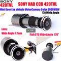 1/3 polegadas hd 150 graus wide angle sony ccd wired mini Buraco Olho Olho Mágico Da porta De Vídeo a Cores CCTV Câmera de Vigilância Ternos PARA porta