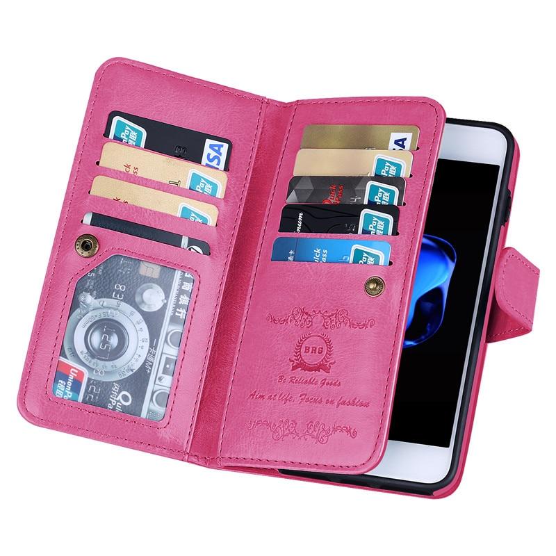 Iphone 7 8 Plus 7plus Case Lüks Cüzdan Cüzdan Dəri Çanta - Cib telefonu aksesuarları və hissələri - Fotoqrafiya 6