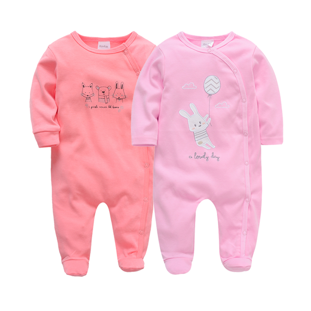 Kavkas 2019 Baby   Rompers   2pcs/lot Long Sleeve Cotton Winter Baby Girls Clothes roupa de bebes 0 3 6 9 12 months Full Jumpsuit