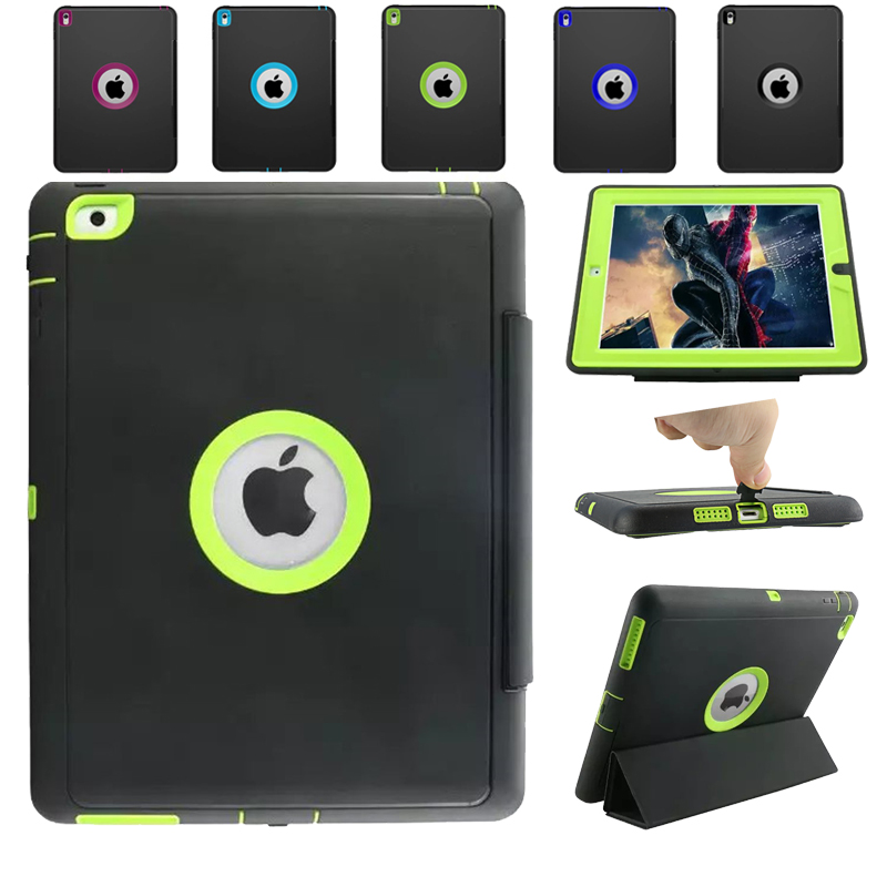 For Apple iPad 2 iPad 3 iPad 4 Retina Kids Safe Armor Shockproof Heavy Duty Silicone Hard Case Cover for ipad air case 360 full shockproof heavy duty silicone hard cover 3 in 1 protection stand case for ipad 5 ipad 9 7 2017 case