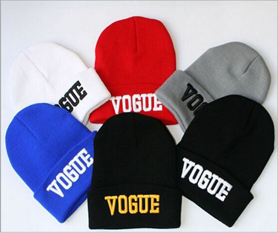 VOGUE Diamond BAD HAIR DAY knitted Winter hat embroidered beanies for men women ski skullies gorros lana hombre mujer invierno