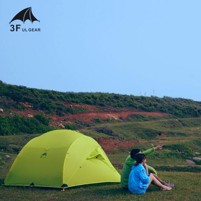 3F UL GETRIEBE 3 Person 4 Saison 15D Camping Zelt Im Freien Ultraleicht Wandern Rucksack Jagd Wasserdichte Zelte Boden Blatt