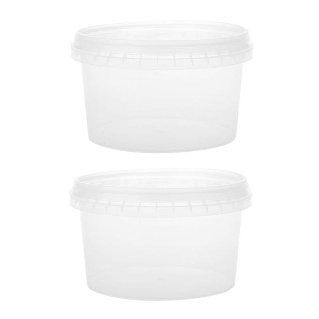 2PCS 400ml Storage Container Organizer Box With One-off Seal For Light Clay Playdough Foam Slime Mud Fluffy Dynamic Sand
