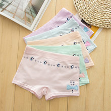New arrived 2019 Girls Underwear Free Shipping Fashion Kids cotton character children panties short boxer 5pcs/lot 5-13year(China)