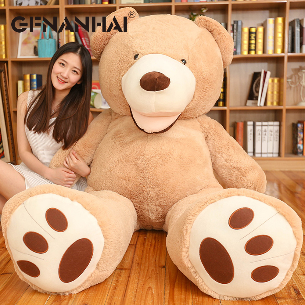 1pc 200cm huge size American giant Teddy bear skin plush toy soft lovely bear coat birthday Valentine's gift for kids girls factory price 160cm teddy bear coat empty toy skin plush giant bear toy