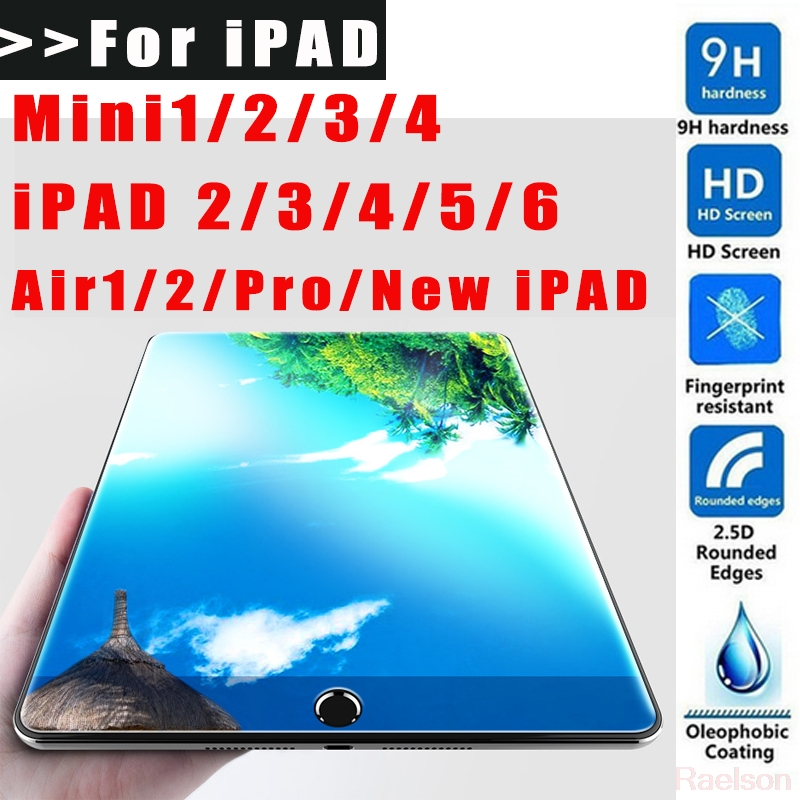 9H 2.5D Screen Protector For iPad 2 3 4 5 6 Mini 1 2 3 4 Air1 2 HD Tempered glass For Apple New iPad 9.7 12.9 10.5 inch 2017 ...