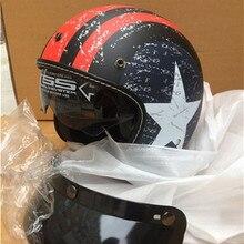Moto rcycle casco vespa vintage harley inverno mezza casco con interno visiera jet retro capacete casco moto casco DOT compagno stella
