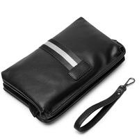 Famous Brand Men Clutch Bag Male   Wallets   Monederos Casual Leather Purse Men's Standard Long   Wallet   Carteiras Man Handy Bags