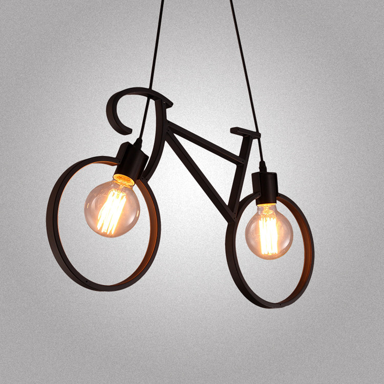 купить bedroom Personality fashion features lamps Children toy modern creative bike pendant lights art restaurant art pendant lamps онлайн