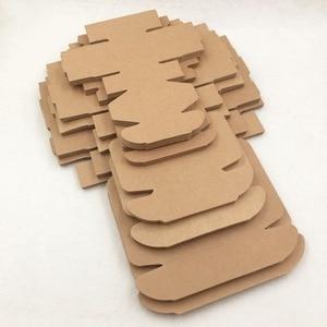 Image 3 - 20 pcs caja de embalaje de regalo de papel Kraft, caja de dulces de jabón hecho a mano de cartón kraft, caja de regalo de papel artesanal personalizada