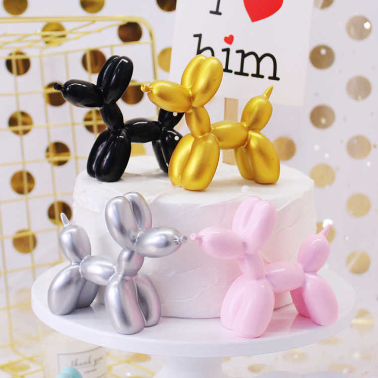 Cute Balloon Dog Resin Crafts Cake Dessert Party Desktop Ornament Decor Cake