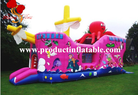 Inflatable pirate Ship Bouncy Castle, Boat Bouncer Jumping, Pirate Boat Inflatable Bouncer pirate jack