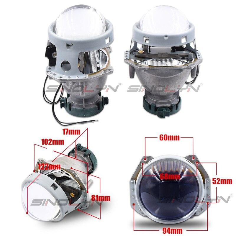 Bi-xenon phares lentilles HID projecteur mise à niveau 3.0 ''pour Hella 3R G5 5 bleu Film lentille Auto voiture accessoires modification D1S D2S D3S - 2