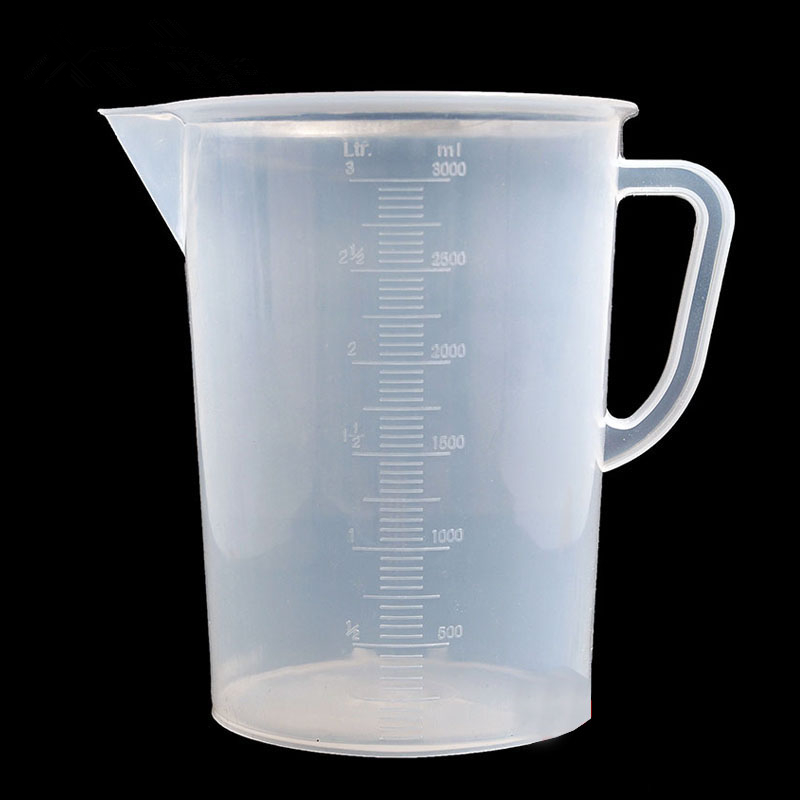 Freeshipping  3000mm Plastic   Measuring Cup   Beaker   Laboratory Cylinder    Lab Supplies