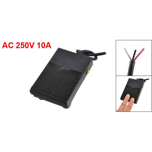 WSFS Hot Sale Amico AC 250V 10A SPDT NO NC Momentary Plastic Power Foot Pedal Switch for CNC Industrial ews amico ac 250v 10a spdt no nc