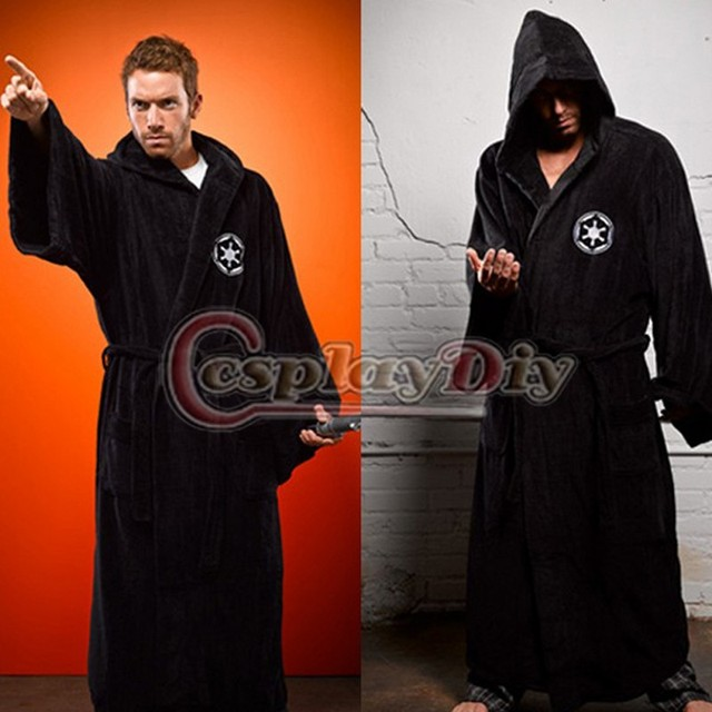 0ce3061dc2 Cosplaydiy Star Wars Jedi Knight Robe Cape Bathrobe Galactic Empire Adult  Men s Costume