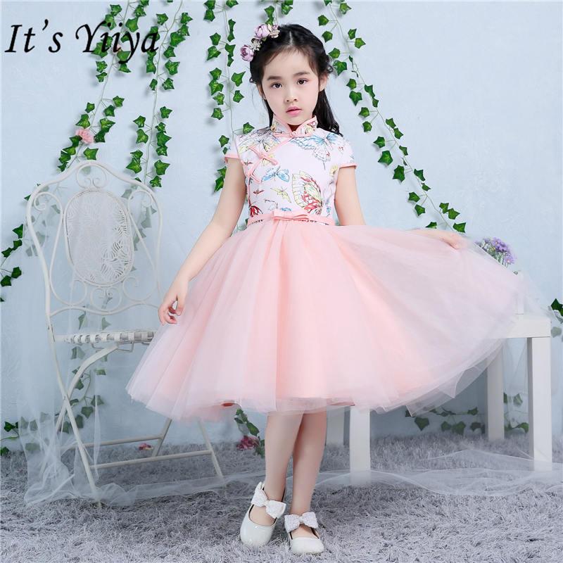 It's yiiya Vintage Cheongsam   Flower     Girl     Dresses   Elegant Bow   Girl     Dress   TS210