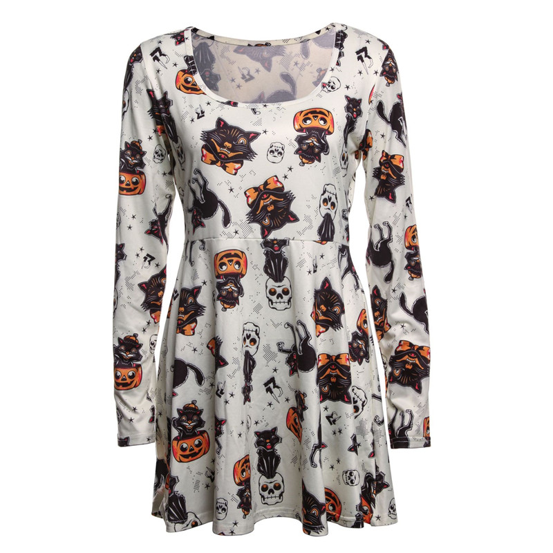 ec04cafebe5ca Maternity Dress For Halloween Party Pregnant Women Cosplay Pumpkin/Vampire  Print Pregnancy Clothes Autumn Maternity Basic Dress -in Dresses from Mother  ...