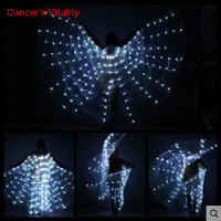 2017 Belly Dance LED Isis Wings Colorful Belly Dancing Accessory Popular Stage Performance Props Wings Props