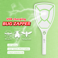 Electric Mosquito Swatter Night light Bug Zapper Portable Fly Killer Pest Control USB charging plug 1000mAh Battery