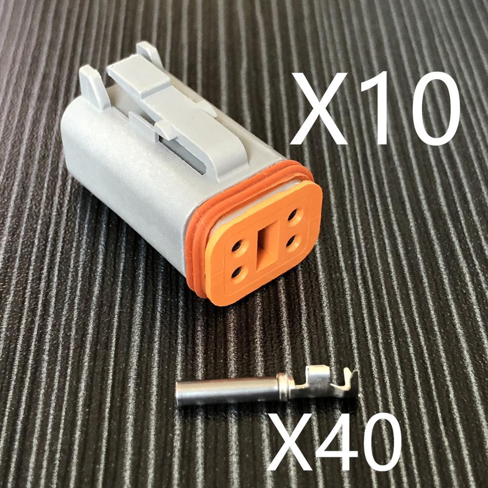 ヾ(^▽^)ノTrck 4 hole car waterproof auto connectors female, DT ...