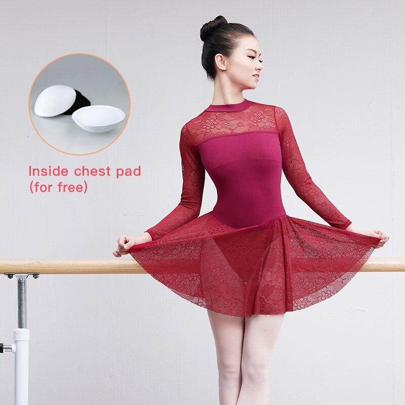 Professional Adult Ballet Leotard Sexy Lace Dress