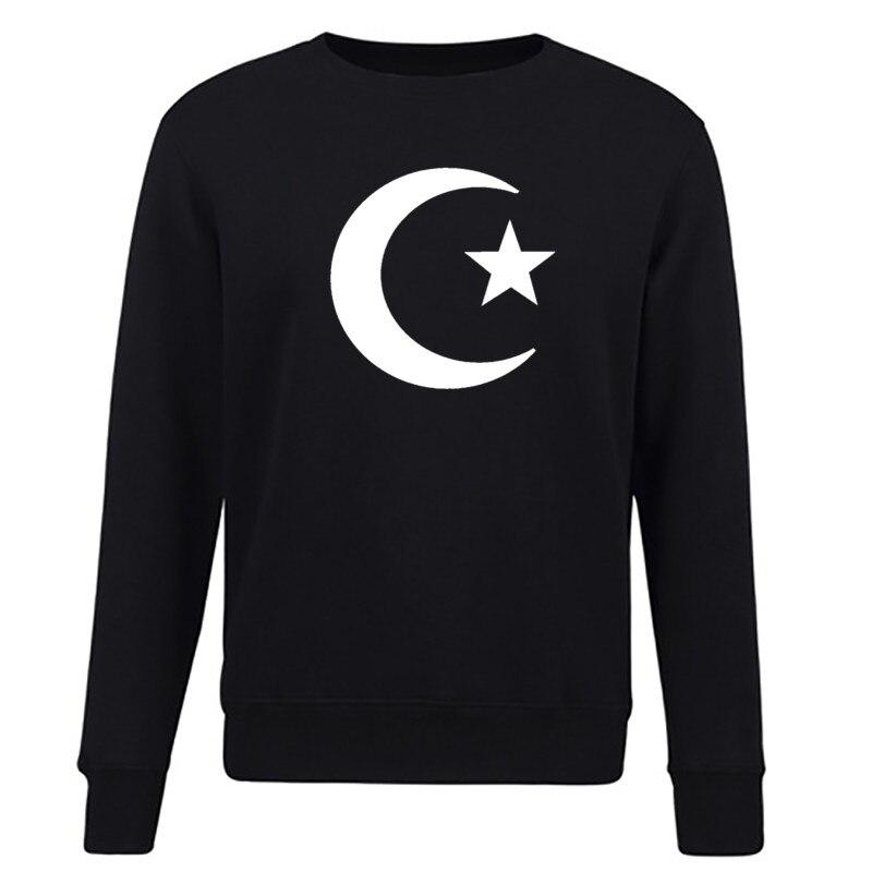 Ислам Musulmano Полумесяца Simbolo Divertente зимние модные мужские Кофты Уличная толстовки спортивный костюм брендовая одежда
