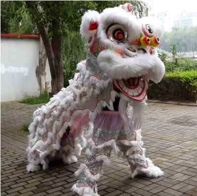 Зарубежный Китайский праздник льва танцевальный наряд кантонский танцевальный костюм льва Фошань шерсть ручной работы сценические аксессуары