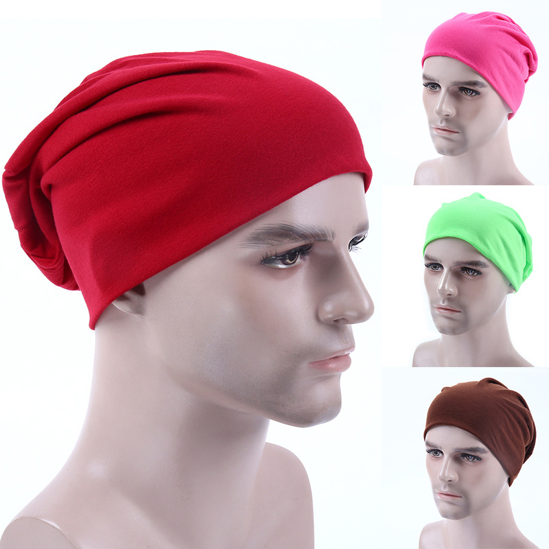 Autumn Hats For Men Winter Cap Knitt Caps Solid Color Hip-hop Skullies Beanie Unisex Str ...