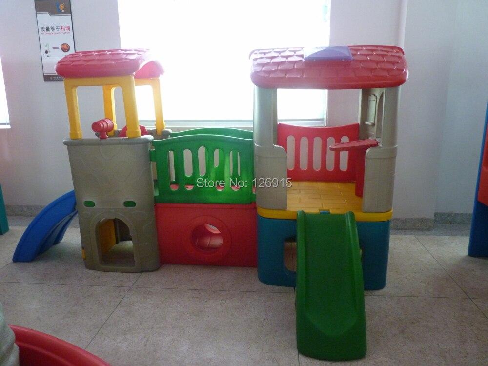 Baby combined slide indoor playground kids plastic playhouse ...