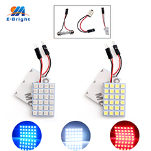 цена на 10pcs 24 SMD 5050 White Light Panel T10 BA9S Festoon Dome LED Interior Bulb  Reading bulb car light source