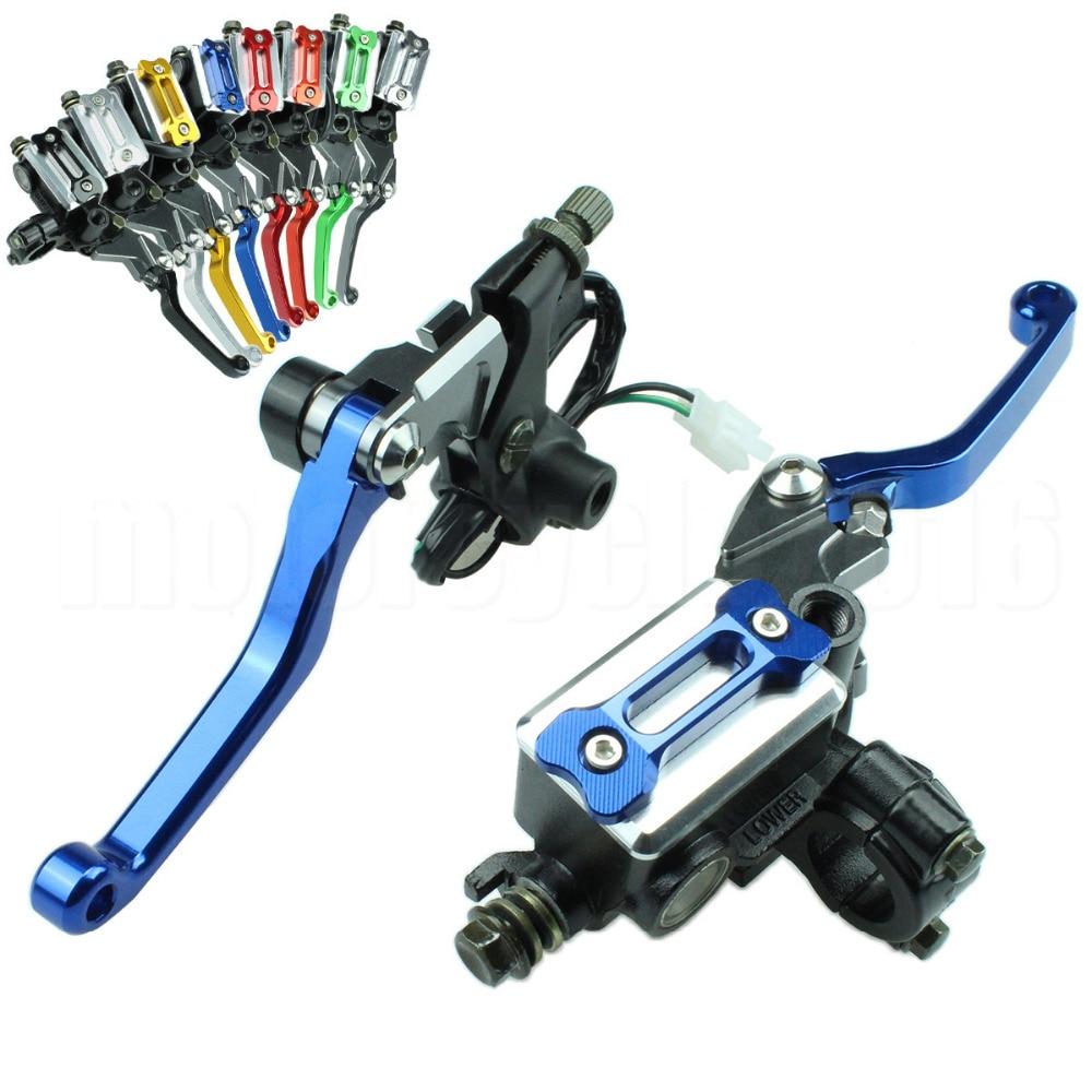7/8 Motocross Dirt Bike Hydraulic Cylinder Reservoir Brake Clutch Lever For Honda XR230 MOTARD 2005-2009 SL230 1997-2004 stels navigator 380 2015