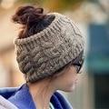 Новый дамы шапки зимние вязаная шапка шапки женщины теплый бандо, открытый диапазон волос шапочки женская повседневная головкой taenia