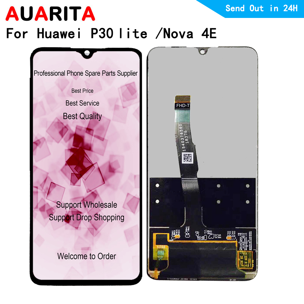 For Huawei <font><b>P30</b></font> lite Nova 4E MAR-L01A L21A LX1A LX1M LX2 L21 MEA L22A L22B LX3A <font><b>LCD</b></font> Display Touch panel Screen Digitizer Assembly image